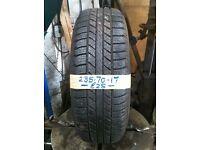 235-70-17 Goodyear Wrangler 111H 7mm Part Worn Tyre