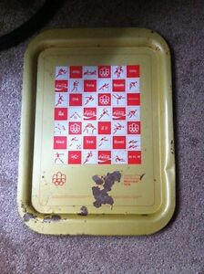 1976 Coca Cola Montreal Olympic Games Tray Kingston Kingston Area image 1