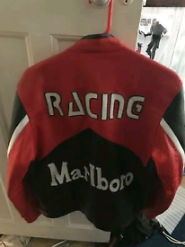 Marlboro motorcycle leather jacket