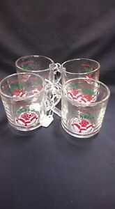 Clear Christmas Bell Mugs