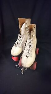 Red And White Size 5 Roller Skates