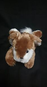 Brown And White Plush Bunny
