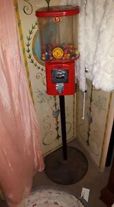 Here is a Great Old Bubble Gum Machine with Metal Stand