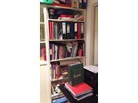 White Ikea Billy book case doors 200 x 80 x 30cm