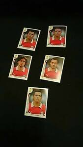 Set Of 5 Chile Fifa 2014 Cards