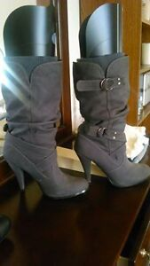 Women's Grey Suede boots size 10 $50 or best offer