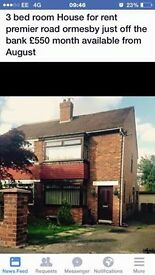 Three bedroom house Off Ormesby Bank, Middlesbrough