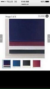 Windsor Weave Custom Fit Plain Hem Room Darkening Roller Shades