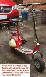 Stolen Gas Powered GoPed Kitchener / Waterloo Kitchener Area image 3