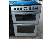 NEW WORLD SILVER/BLACK 60cm ELECTRIC COOKER, 4 MONTHS WARRANTY, FREE LOCAL DELIVERY