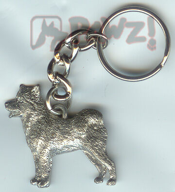 ALASKAN MALAMUTE Dog Pewter KEYCHAIN Key Chain Ring