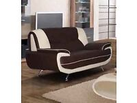 2 SEATER BROWN/BEIGE SOFA MUST GO!!!