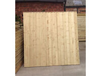🌲Tanalised Wooden/ Timber Straight Top Close Board Feather Edge Fence Panels🌲