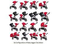RED CITY SELECT DOUBLE PUSHCHAIR/PRAM/BUGGY