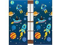 Space kids curtains