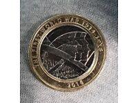 First World War 2 pound coin