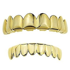 24k Gold plated 8-teeth grills/grillz