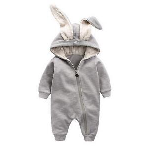 Rabbit Ear Hooded Baby Romper