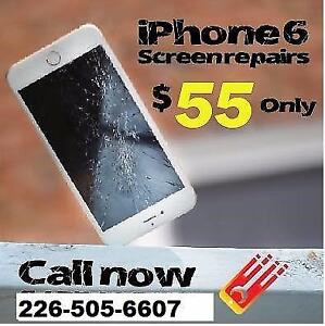 iPhone 6 Screen Repair ?? WATERLOO / KITCHENER   ONLY 55$ TODAY SPECIAL