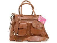 Leo & Lin Leather Baby Bag