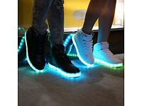Mid top Led Light Up Trainers for Men & Women Unisex