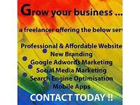 Affordable Web Design/Branding/Google Adwords/Social Media Marketing-CALL TODAY !!