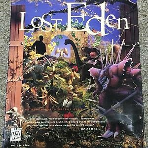 Lost Eden PC CD Game 1995 Dinosaur Adventure Strategy