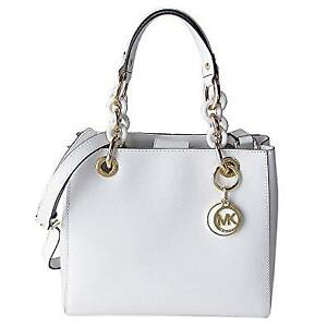 MICHAEL KORS Cynthia Small Satchel - Optic White
