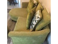 SOFA FOR SALE - Green DFS sofa from Non-Smokng Household. *Collection Only* *Sold as