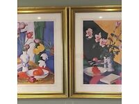 2 Large Framed Pictures