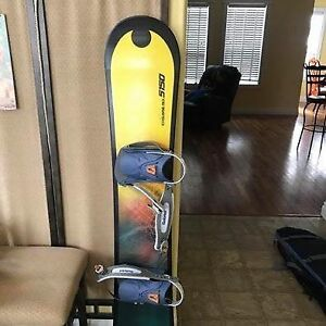 Snowboard with carrying case