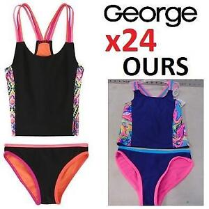 24 NEW GEORGE GIRL'S 2PC SWIMSUIT 31386470 188875591 Tankini Swimsuit Set SIZES MAY VARY - SEE COMMENTS