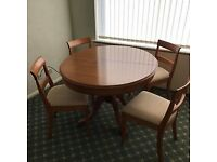 Extended Dining Table and Chairs