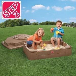 NEW STEP 2 PLAY AND STORE SANDBOX - 118938716 - SAND BOX - BABY  KIDS - OUTDOOR SEASONAL PLAY - IMAGINATIVE PLAYTIME