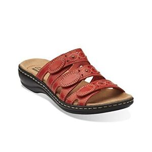WOMEN'S CLARKS LEISA CACTI Q CORAL SANDALS size 6 (NEW)