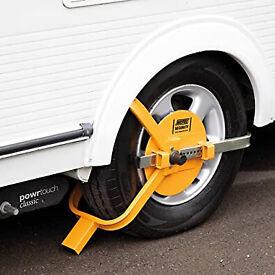 Maypole Universal Wheel Clamp Fits 13 to 17 Inch Wheels Caravan Car Van Security Lock