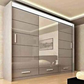 🎉✨BEST QUALITY LOWEST PRICE HIGH GLOSS SYCYLIA WARDROBE AVAILABLE IN DIFFERENT COLORS🎇🎉