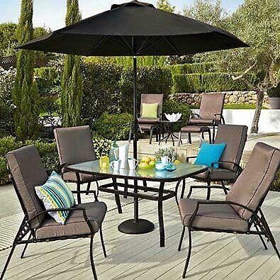 Santorini 11 Piece Garden Dining Set