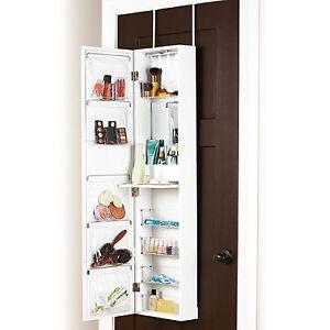 Door Solutions Over-the-Door Mirror and Cosmetic Organizer - NEW Edmonton Edmonton Area image 2