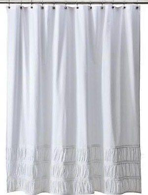 white cotton shower curtain ebay