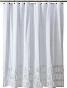 white cotton curtains ebay