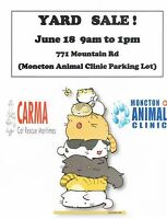 CARMA Yard sale to help homeless cats in our area