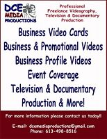Videography & Documentary Production Available