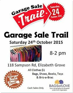 Op-Shop $1 Clothing Sale - Open Saturday 24th Oct Elizabeth area Elizabeth Grove Playford Area Preview