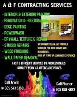 CHRISTMAS SPECIALS $85/ROOM --- A&F CONTRACTING SERVICES