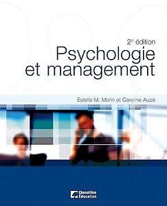 Psychologie et management 2e éd par Morin et Aubé