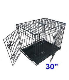 Ellie-Bo Medium Puppy Crate/Cage 30 Inch Black