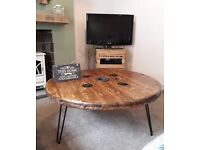 WonkyDonk large coffee table upcycled cable reel