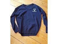 "Huntington Secondary School Girls 38"" V Neck Uniform Jumper, BRAND NEW UNWORN"