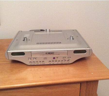 Under cabinet CD player radio for under kitchen units with remote